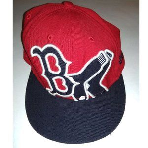 59fifty New Era Baseball Cap Hat Embroidered Red 7